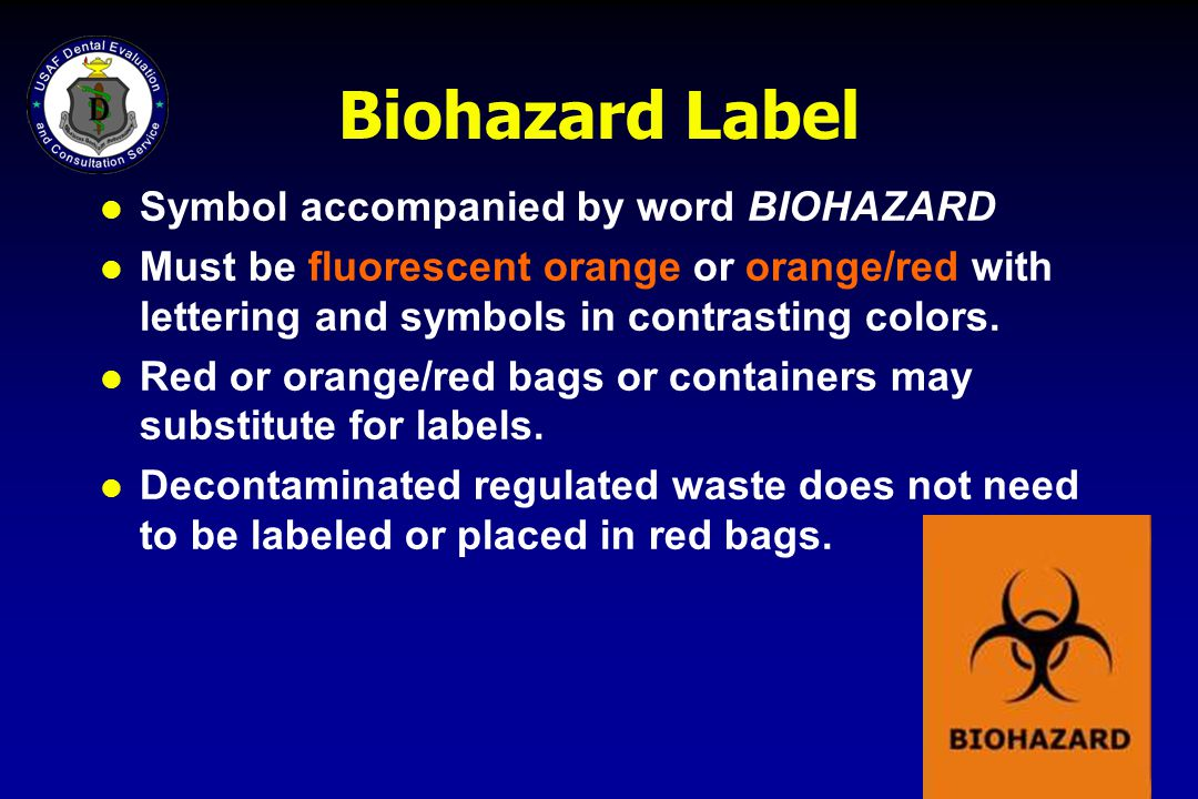 Biohazard Label Symbol accompanied by word BIOHAZARD