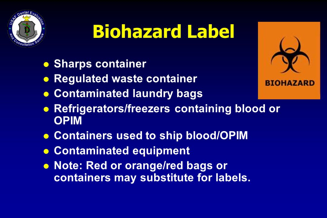 Biohazard Label Sharps container Regulated waste container