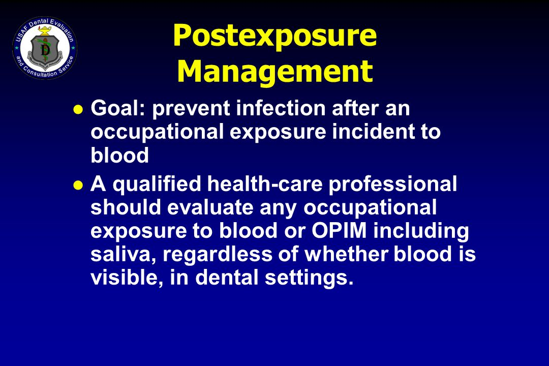 Postexposure Management