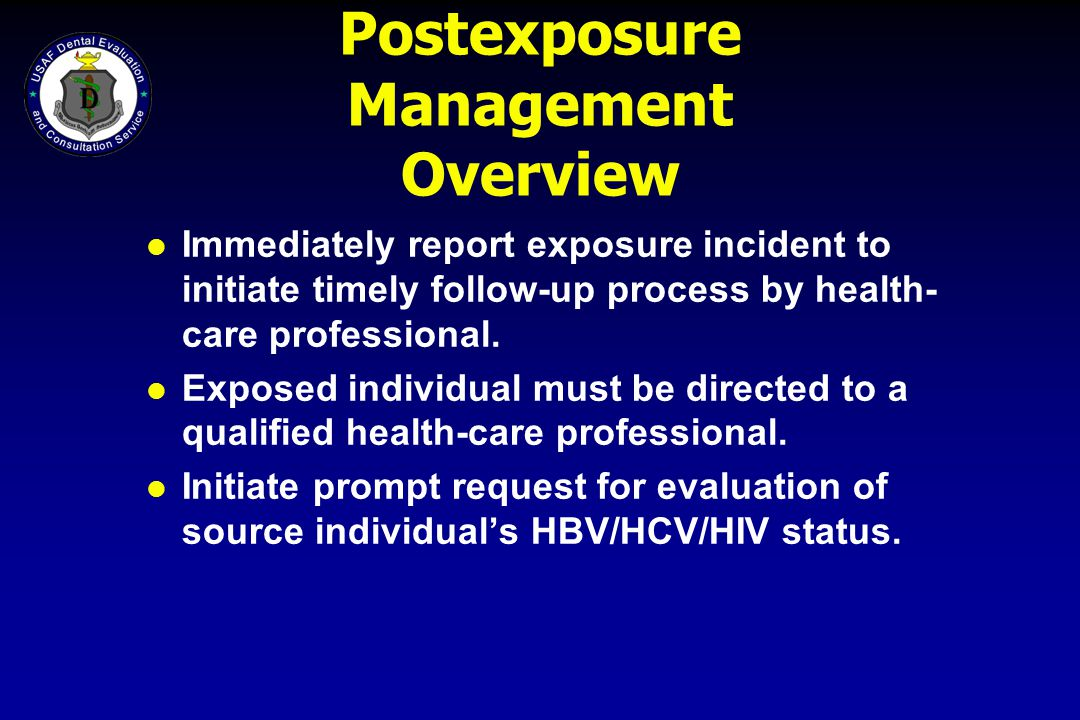 Postexposure Management Overview