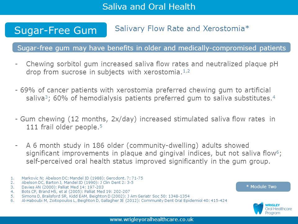 Sugar-Free Gum Salivary Flow Rate and Xerostomia*