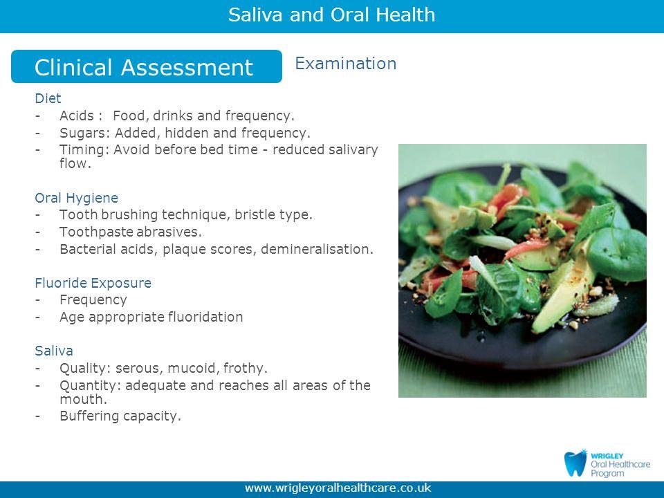 Clinical Assessment Examination Diet