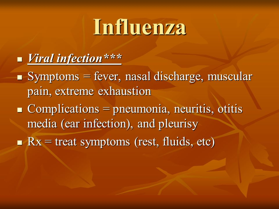 Influenza Viral infection***
