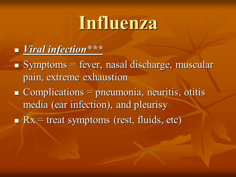 Influenza Viral infection***