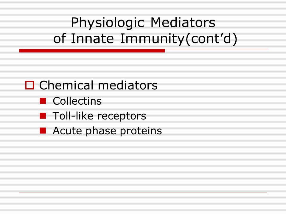 Physiologic Mediators of Innate Immunity(cont'd)