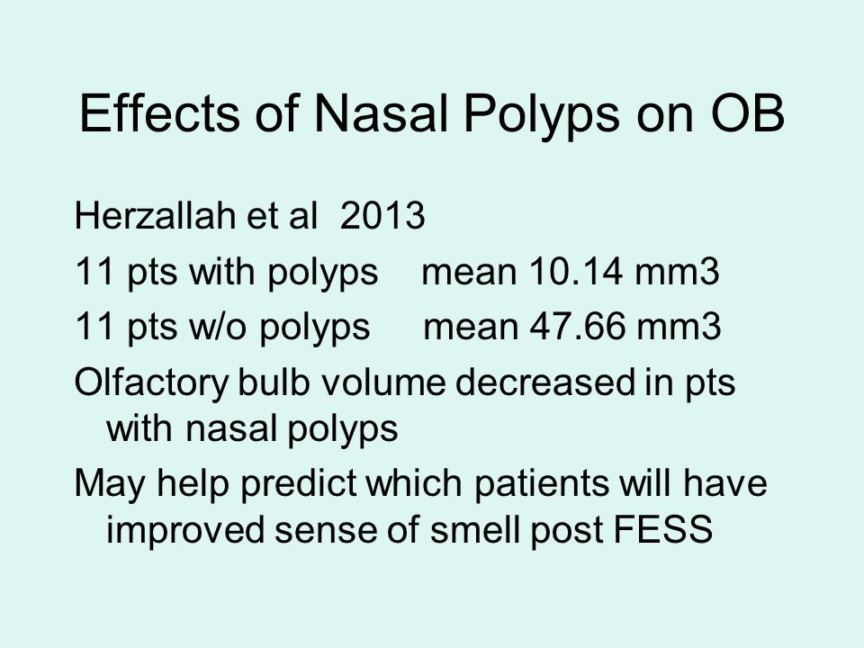 Effects of Nasal Polyps on OB