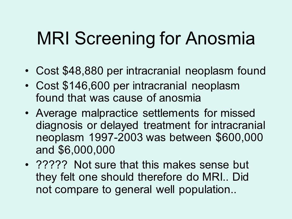 MRI Screening for Anosmia