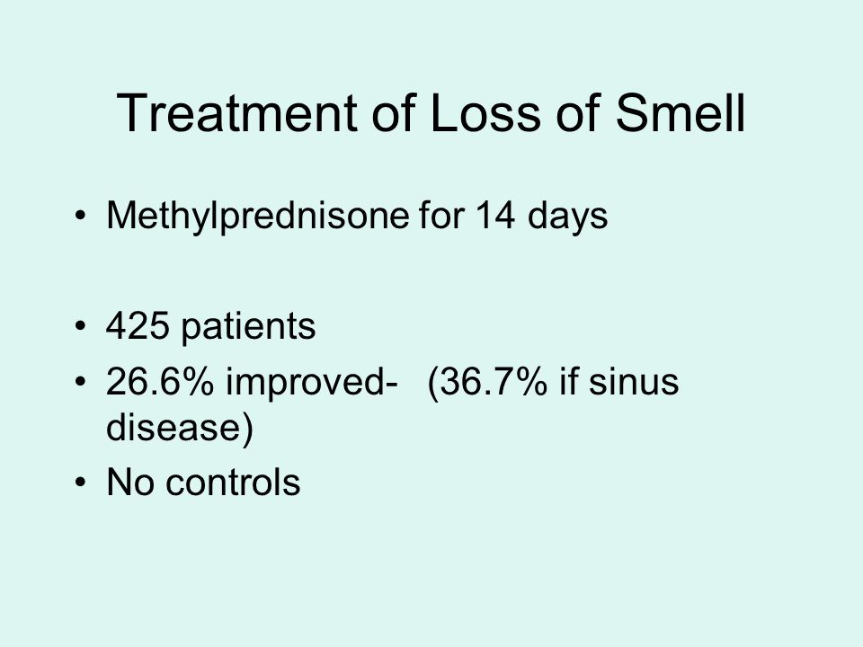 Treatment of Loss of Smell