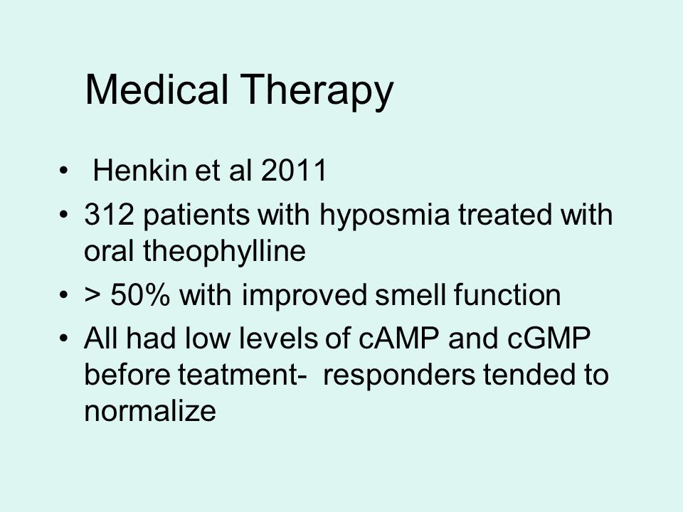 Medical Therapy Henkin et al 2011