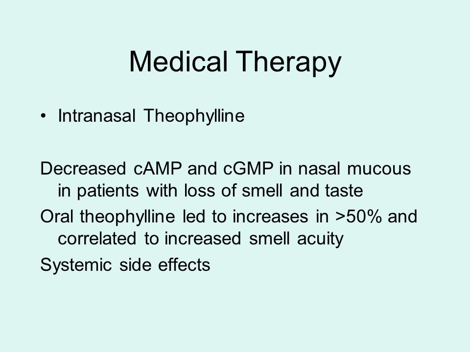 Medical Therapy Intranasal Theophylline
