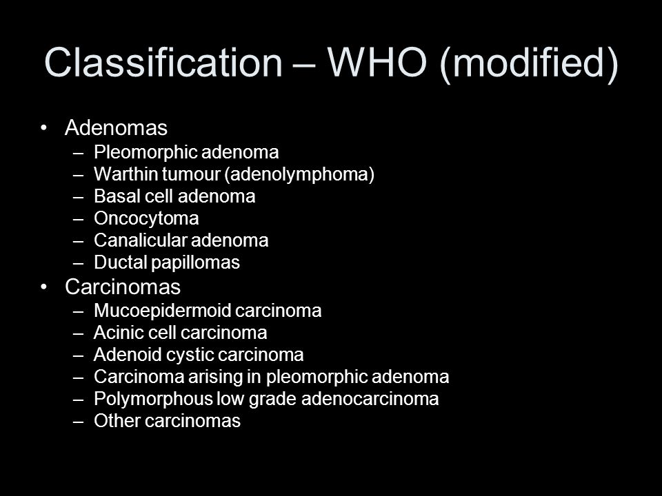 Classification – WHO (modified)