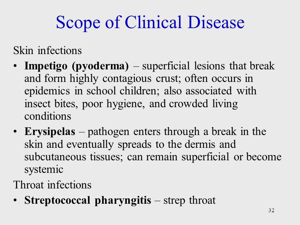 Scope of Clinical Disease