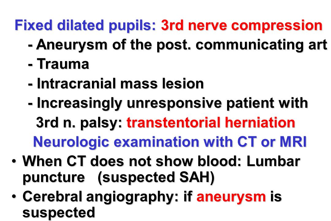 Neurologic examination with CT or MRI