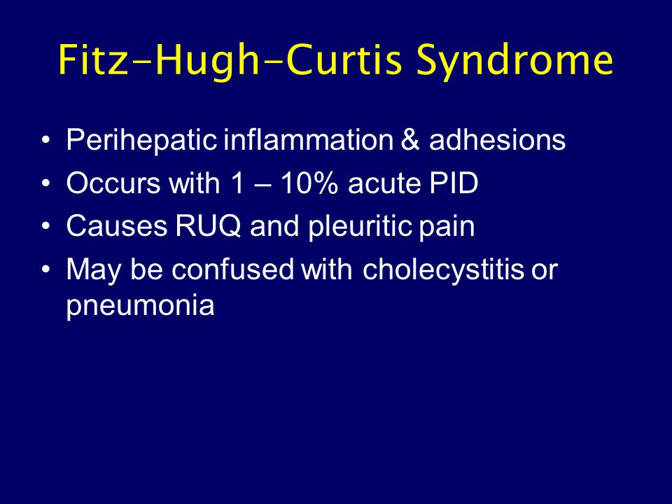 Fitz-Hugh-Curtis Syndrome