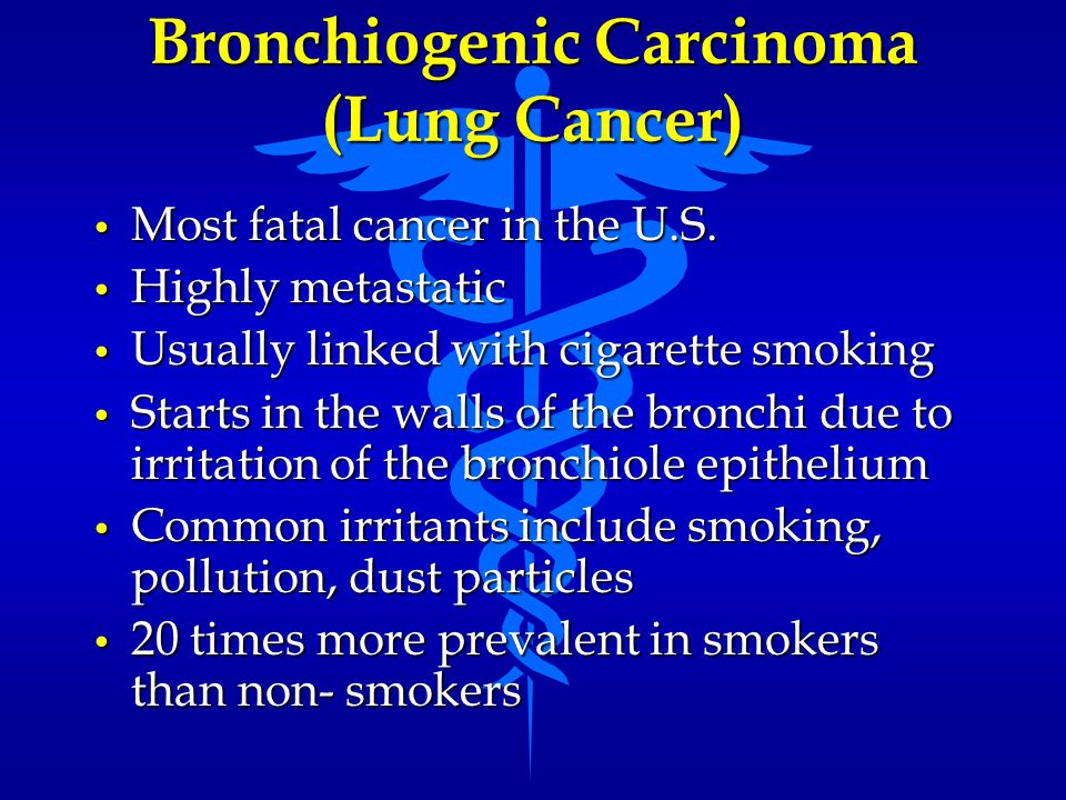 Bronchiogenic Carcinoma (Lung Cancer)