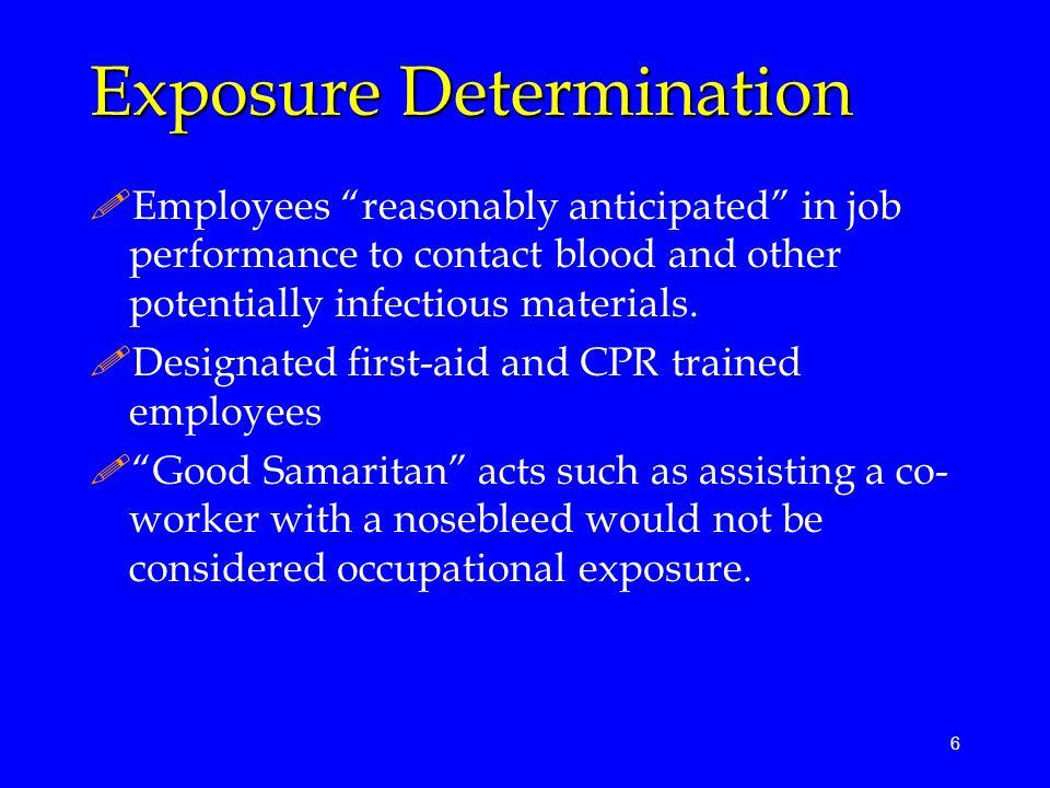 Exposure Determination