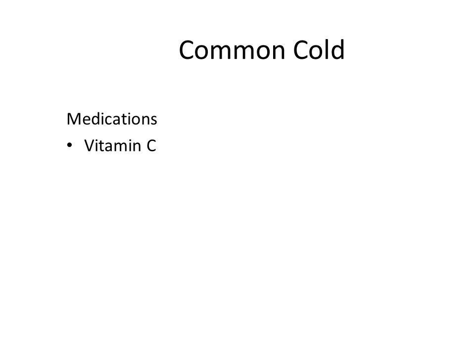 Common Cold Medications Vitamin C
