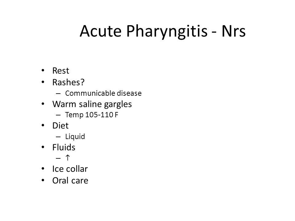 Acute Pharyngitis - Nrs