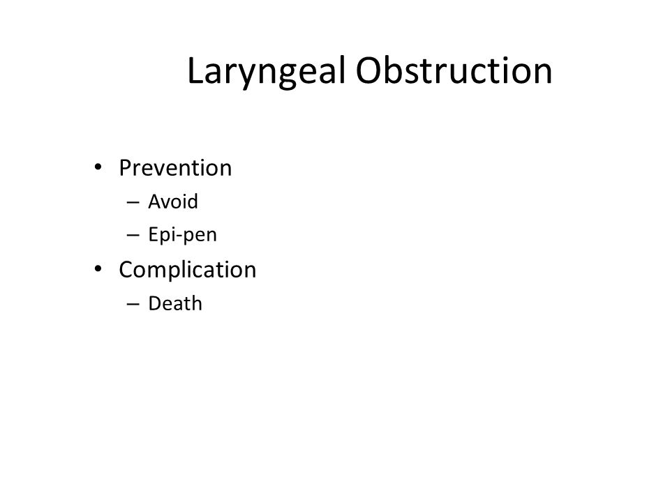 Laryngeal Obstruction