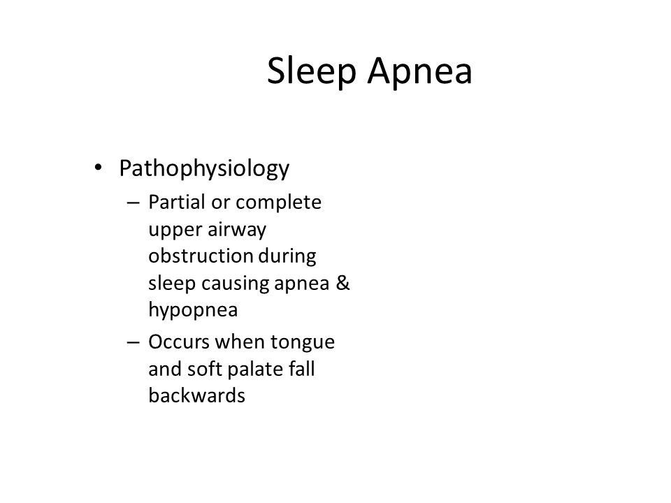 Sleep Apnea Pathophysiology