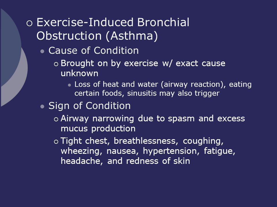 Exercise-Induced Bronchial Obstruction (Asthma)