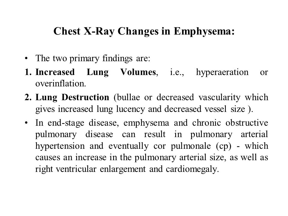 Chest X-Ray Changes in Emphysema:
