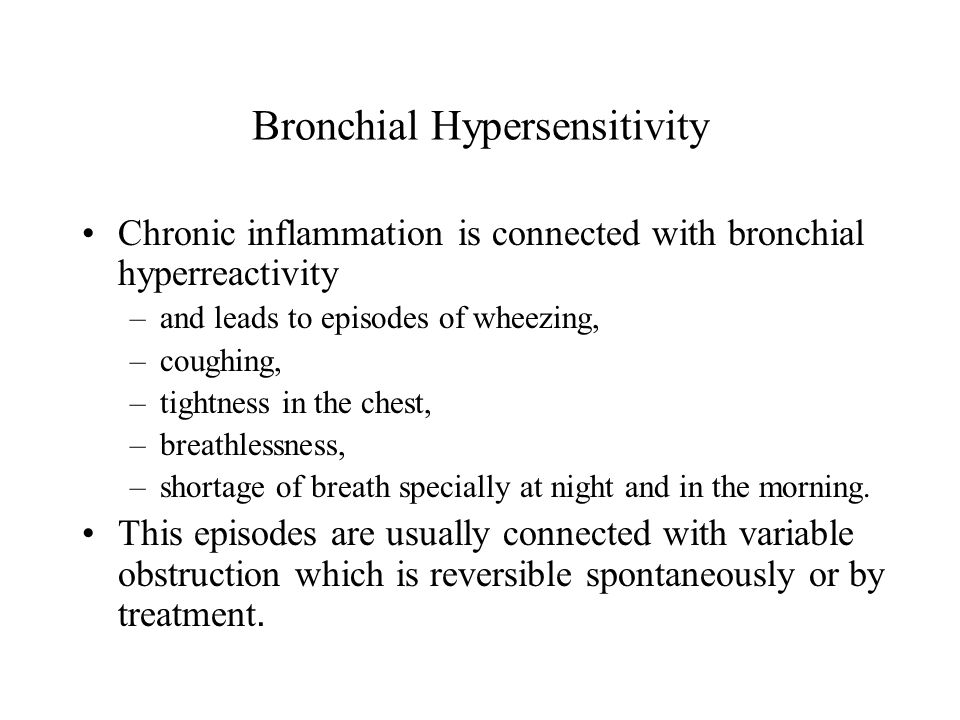Bronchial Hypersensitivity