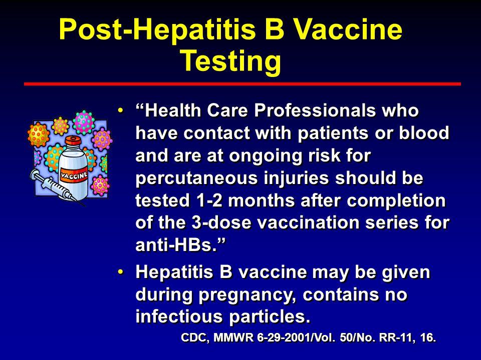 Post-Hepatitis B Vaccine Testing