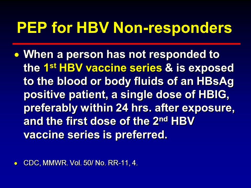PEP for HBV Non-responders