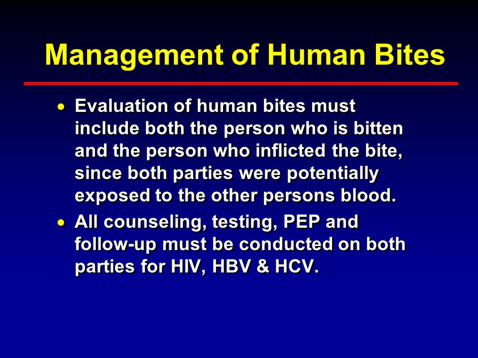 Management of Human Bites