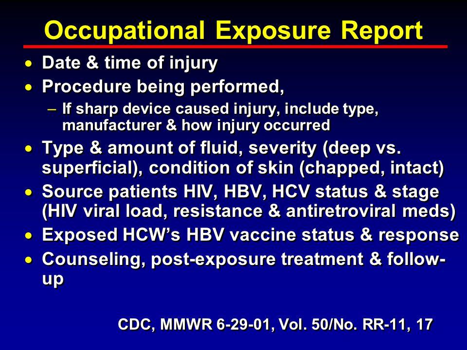 Occupational Exposure Report