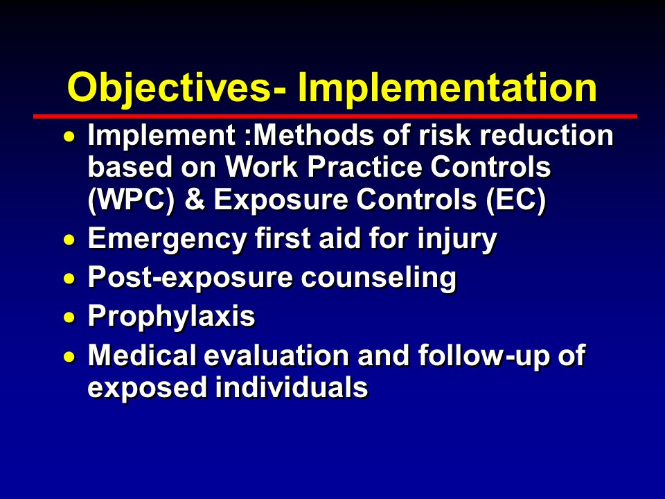 Objectives- Implementation