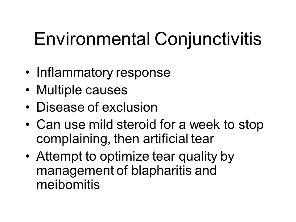 Environmental Conjunctivitis