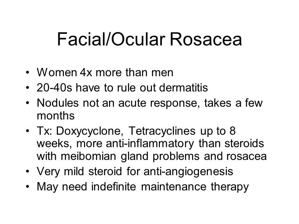 Facial/Ocular Rosacea