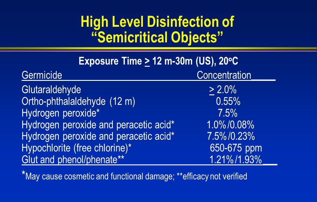 High Level Disinfection of Semicritical Objects