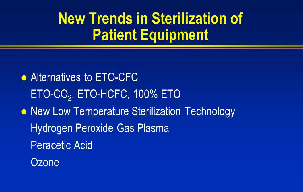 New Trends in Sterilization of Patient Equipment