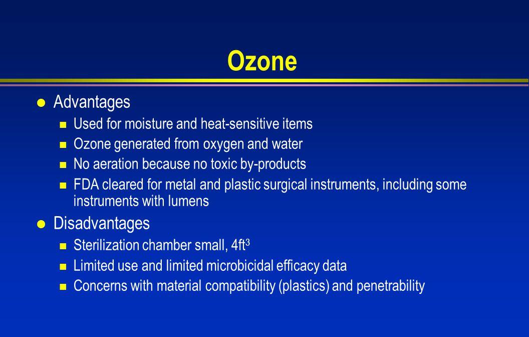 Ozone Advantages Disadvantages