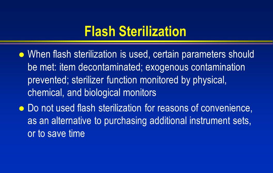 Flash Sterilization