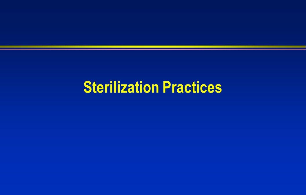 Sterilization Practices