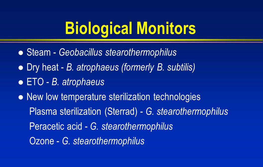 Biological Monitors Steam - Geobacillus stearothermophilus