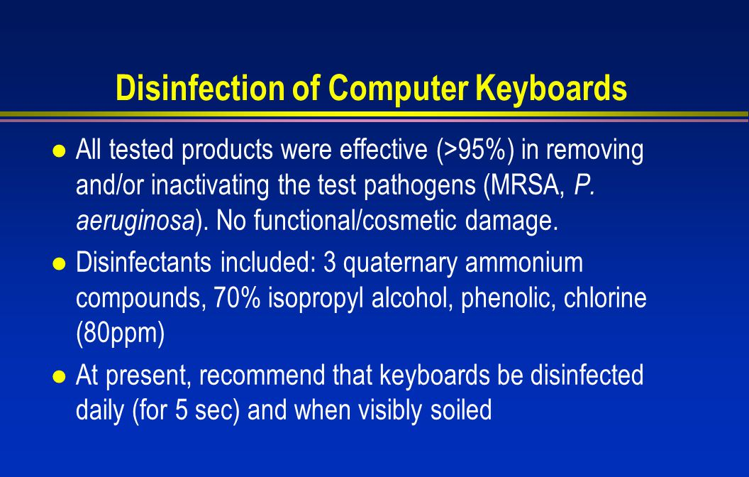 Disinfection of Computer Keyboards