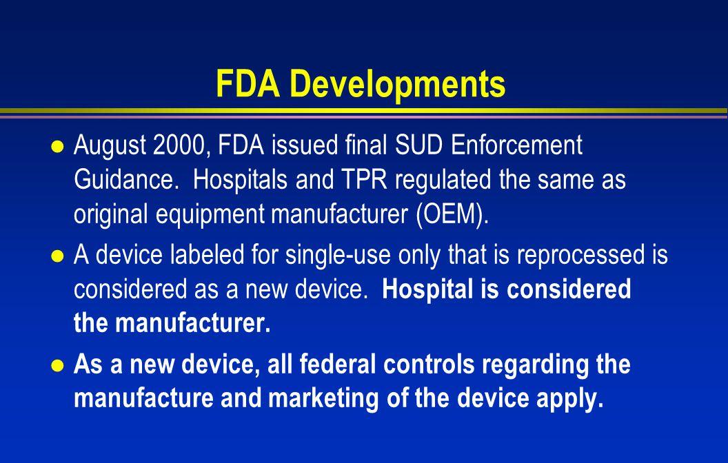 FDA Developments