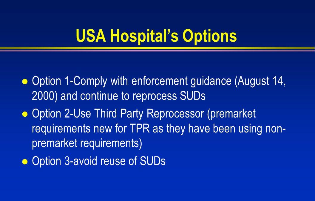 USA Hospital's Options