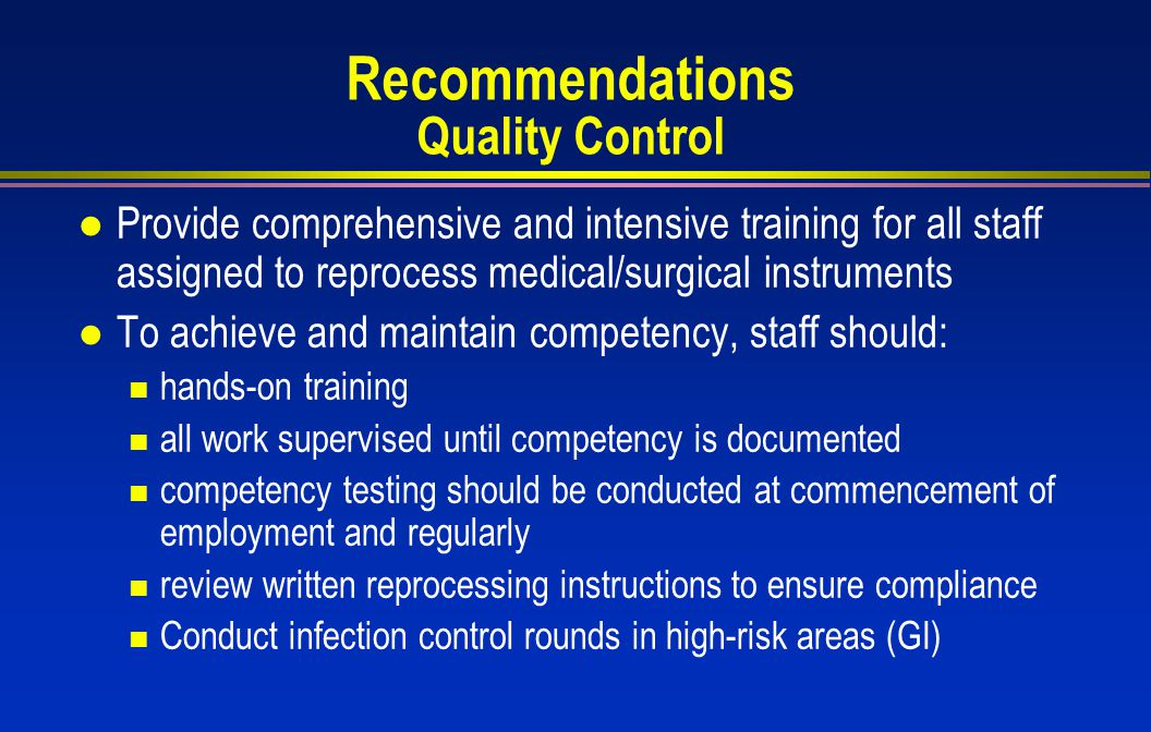 Recommendations Quality Control