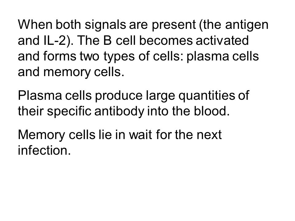 When both signals are present (the antigen and IL-2)