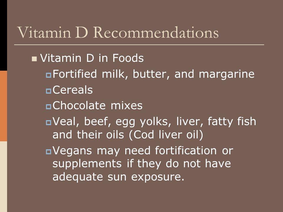 Vitamin D Recommendations