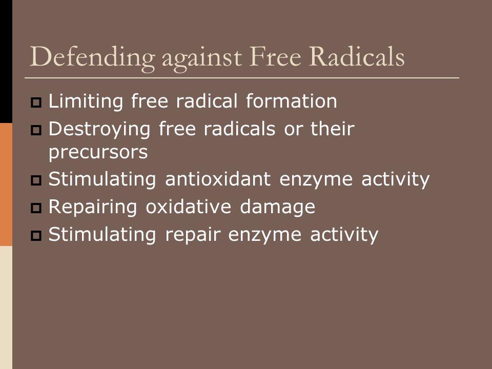 Defending against Free Radicals