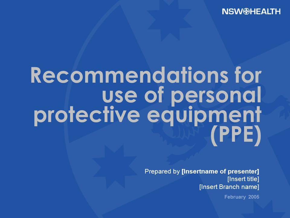 Standard Precautions-PPE