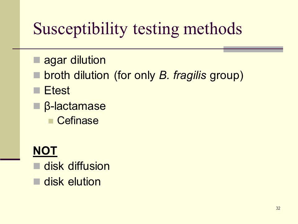 Susceptibility testing methods