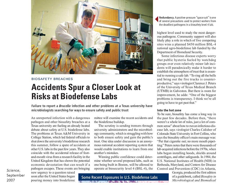 Science, September 2007